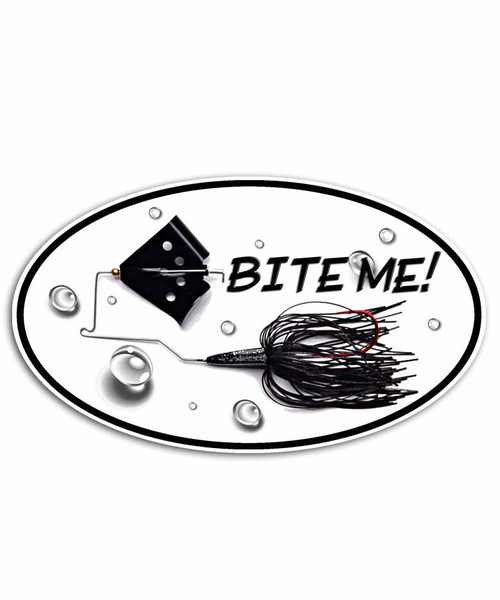 Bite Me Buzzbait Fishing Sticker