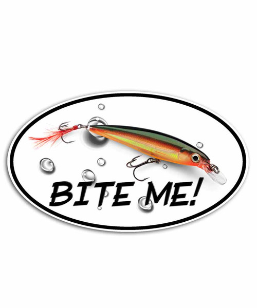Bite Me Rapala Plug Fishing Sticker