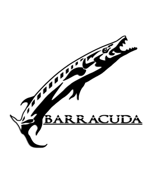 Barracuda fish sticker