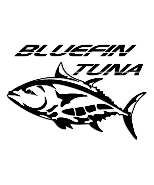 Bluefin tuna fish sticker
