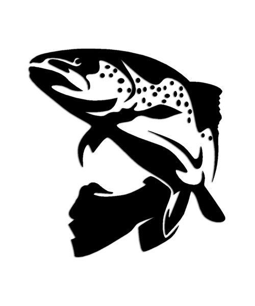 Brown trout fish sticker