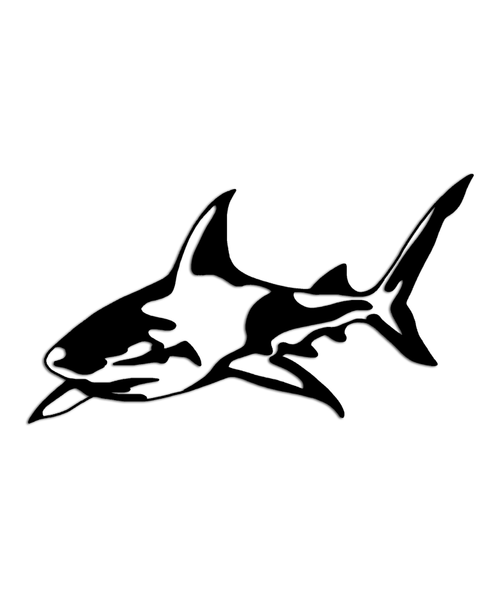 Shark Stalker Ocean Beach Sticker
