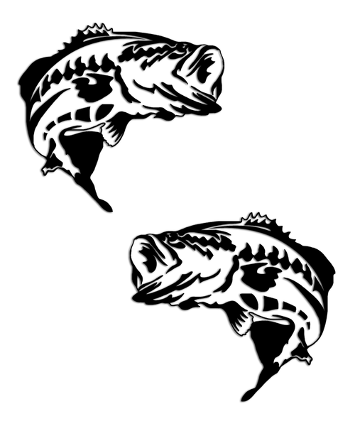 Largemouth Bass Fishing Sticker Set