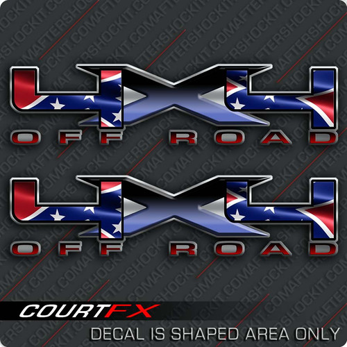 4x4 rebel big x decals