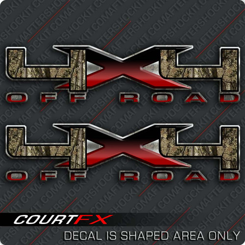 "4x4 Camo Fade Big ""X"" Decals"