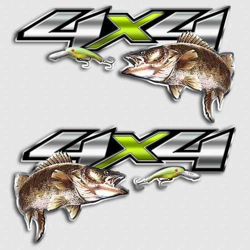 4x4 Walleye Big Bite Fishing Truck decals
