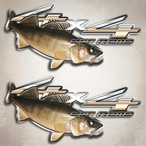 4x4 Walleye Dive Truck Decals