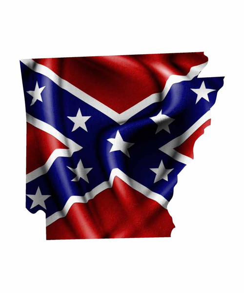 Arkansas Rebel Flag Sticker Aftershock Decals