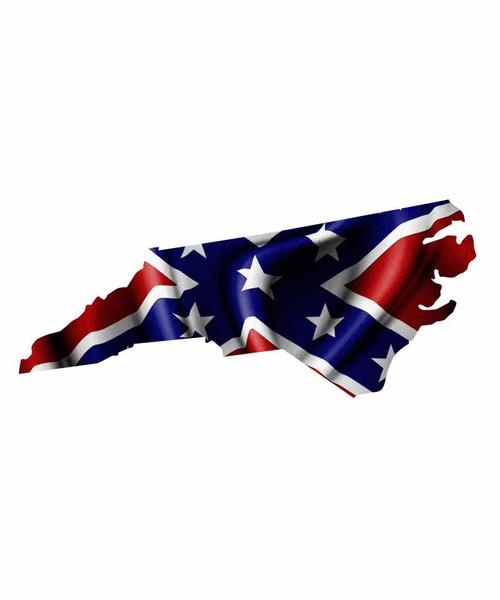North Carolina Rebel Flag Sticker