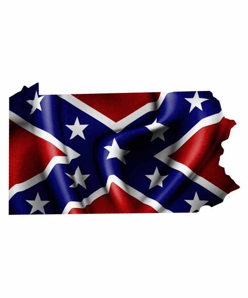 Pennsylvania Rebel Flag Sticker Aftershock Decals