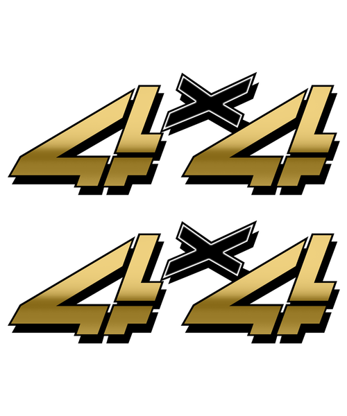 Gold 4x4 Truck Sticker set