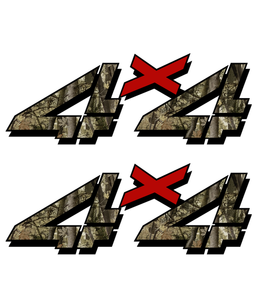 Camouflage Hunting 4x4 Truck Sticker set