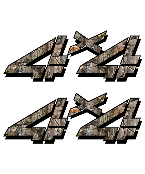 Twisted Timber Camo Hunting 4x4 Truck Sticker set