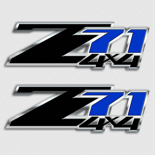Z71 Black and Blue 4x4 Sticker Set