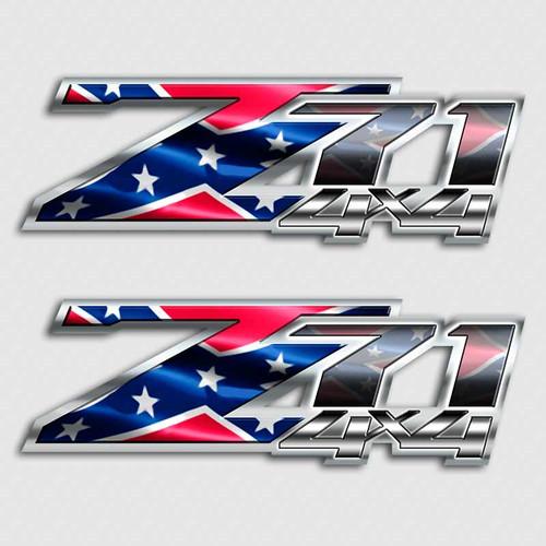 Rebel Flag Z71 Confederate Silverado Truck Decals