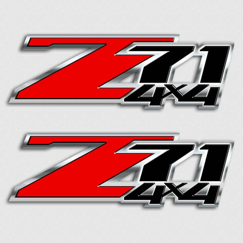 Red and Black Z71 4x4 Sticker Set