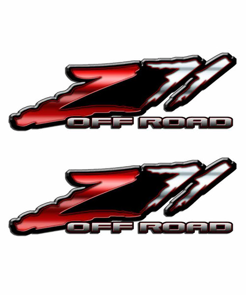 Z71 Red Slash Off Road Sticker Set