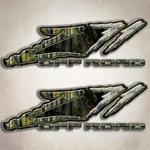 Z71 Camo Slash Off Road Sticker Set