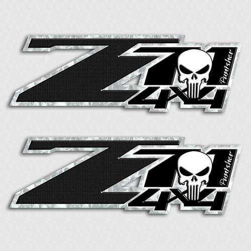 Punisher Skull Z71 4x4 Sticker Set