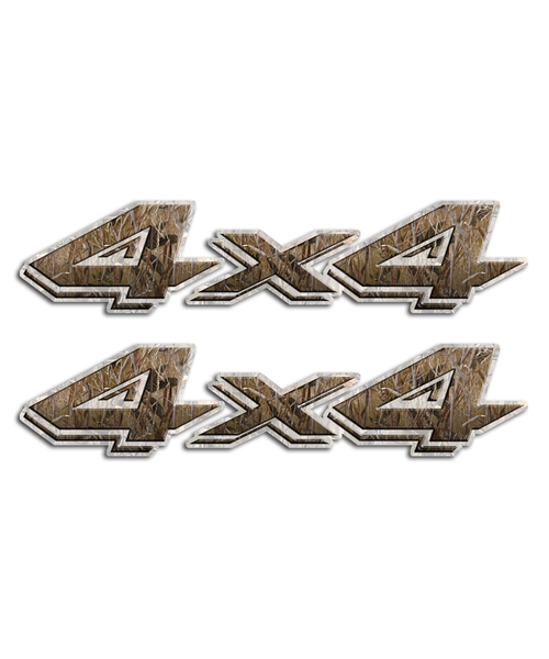 4x4 Camo Grass Stickers