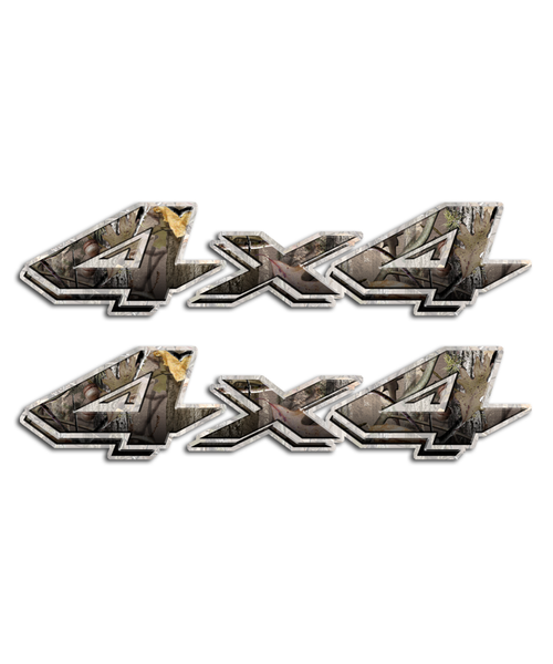 4x4 Twisted Timber Camo Stickers