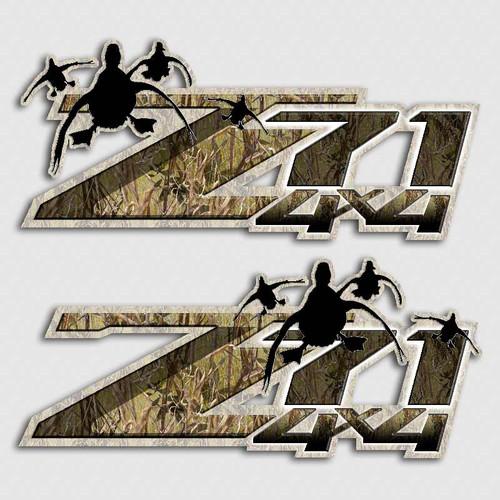 Z71 4x4 Camo Duck Stickers