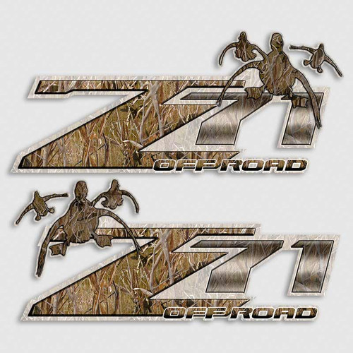 Z71 Camouflage Off Road Duck Decals