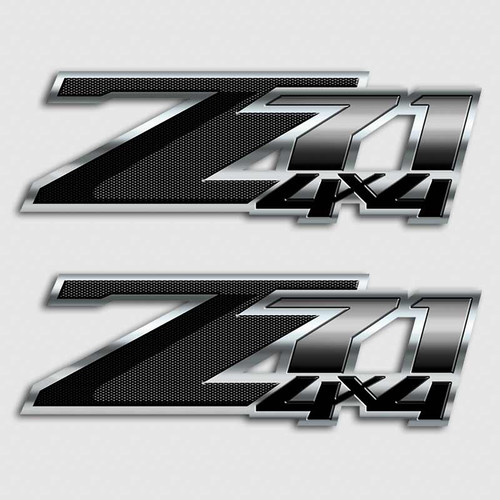 Carbon Fiber Z71 4x4 Black Stickers
