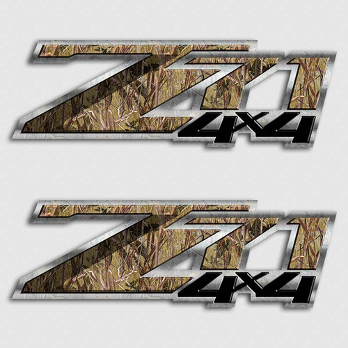 Z Camouflage Decals Silverado Sierra Hunting Truck Stickers - Hunting decals for truckshuntingfishing window decals in white or camouflage at woods
