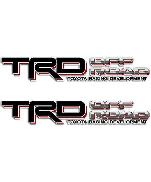 TRD Black Sticker Set