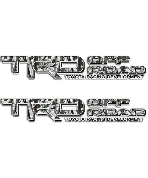 TRD Snow Camo Sticker Set
