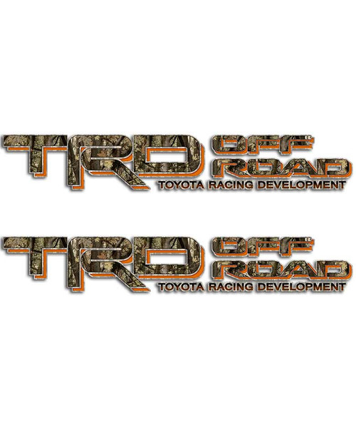 TRD Camo Orange Sticker Set