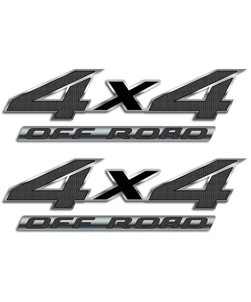 4x4 Black Carbon Fiber Sticker Set