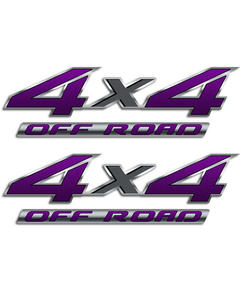 4x4 Purple Carbon Fiber Sticker Set