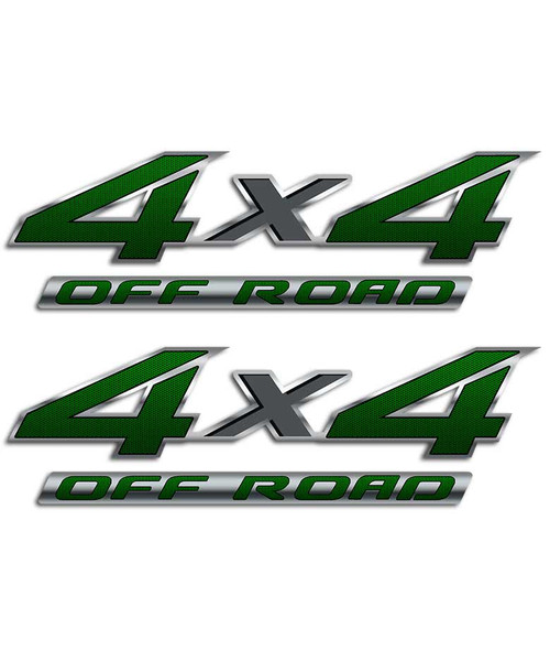 4x4 Green Carbon Fiber Sticker Set