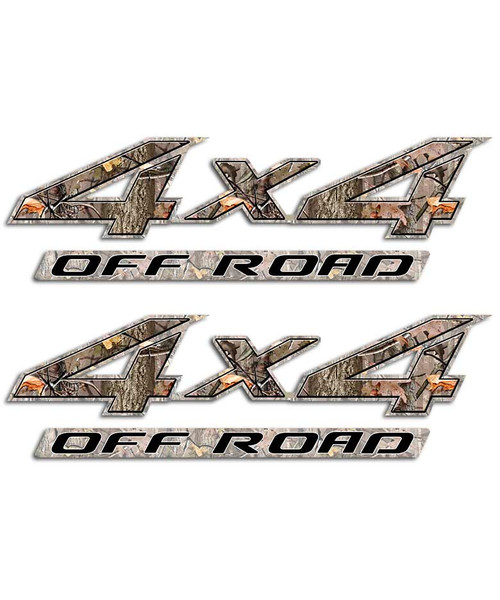 4x4 Twisted Timber Sticker Set