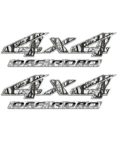 4x4 Snow Camo Sticker Set