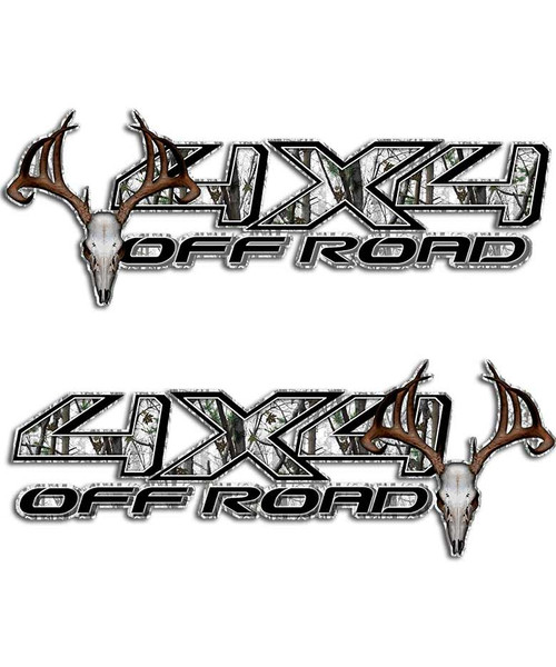 Tundra 4x4 Snow Camo Sticker Set