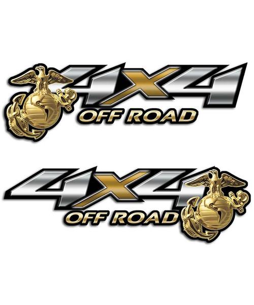 Marines 4x4 Off Road Sticker set
