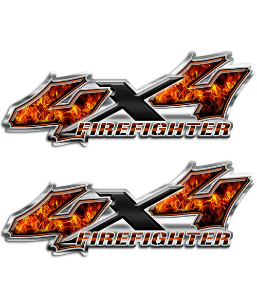 4x4 Firefighter Sticker set