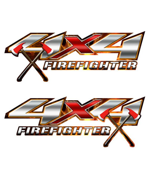 4x4 Firefighter Axe Sticker set
