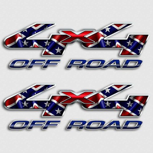 4x4 confederate flag ford f 250 rebel truck decals