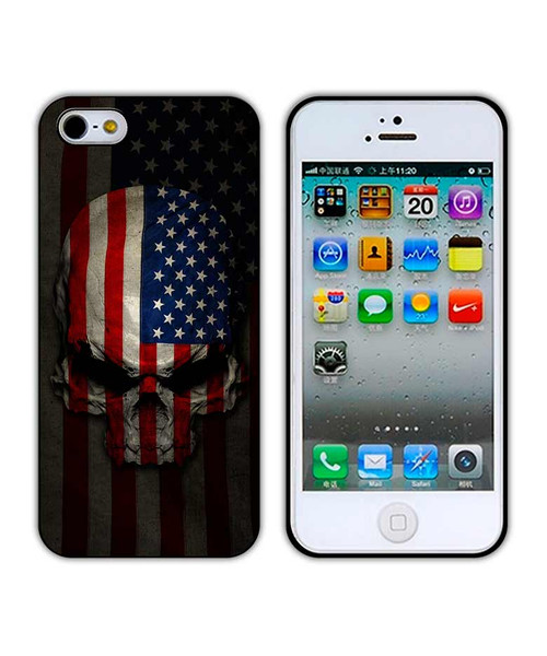 American Flag Skull iPhone Case