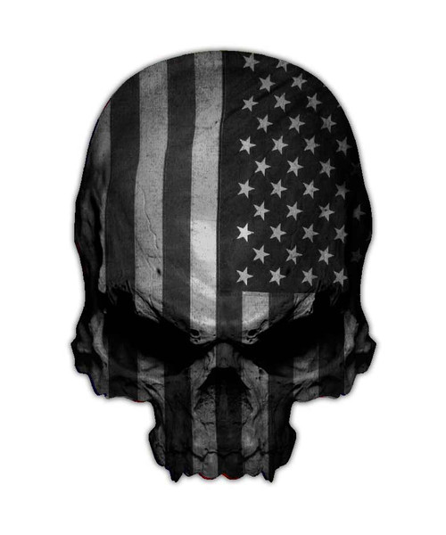 Subdued Flag Skull Sticker