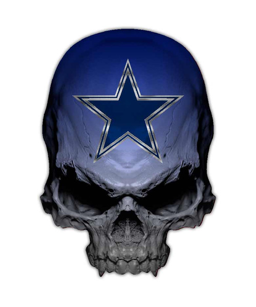Dallas Cowboys Skull Sticker