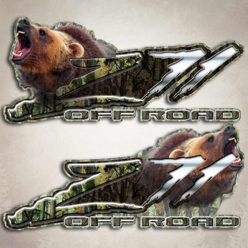 Z71 Grizzly Bear Camo Decals