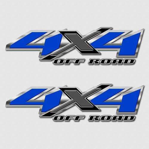 4x4 American Blue Shadow X Chevy Truck Decals