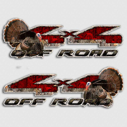 F-150 Turkey 4x4 Hunting Decals