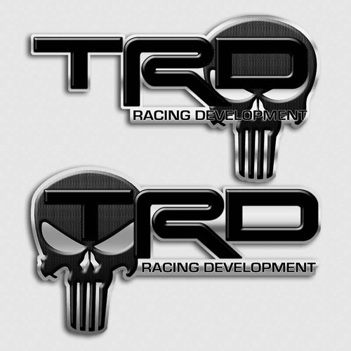 Black Edition TRD Punisher Skull Decals