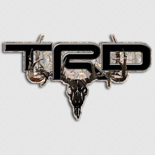 Black Edition TRD Timber Skull Camo Toyota Truck Decals